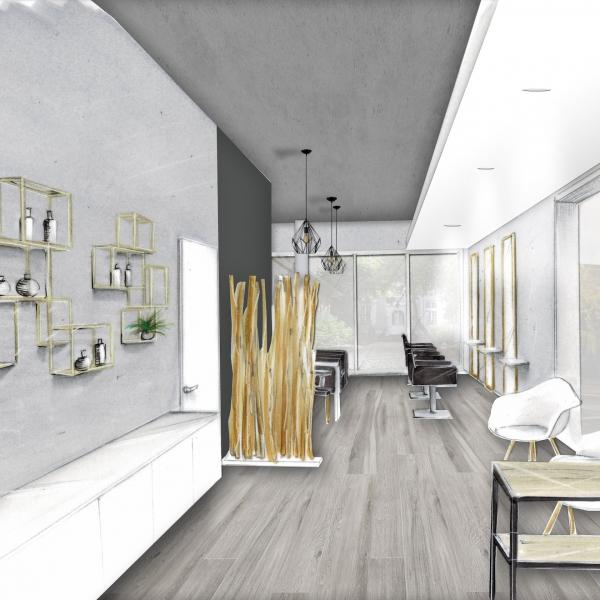 BH Intérieur | Création d\'un salon de coiffure